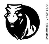 t rex dinosaur logo vector... | Shutterstock .eps vector #774341470
