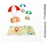 concept delivery service.... | Shutterstock .eps vector #774342808