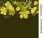 Autumn leaves background for seasonal or thanksgiving design. Vector version also available in gallery - stock photo