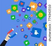 social media marketing concept. ... | Shutterstock .eps vector #774343510