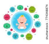 bacterial microorganism in a... | Shutterstock .eps vector #774348874