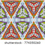 colorful seamless triangle... | Shutterstock .eps vector #774350260