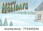 a stylized ornate holiday... | Shutterstock . vector #774350344