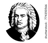 johann sebastian bach. great... | Shutterstock .eps vector #774350566