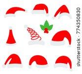 santa christmas hat vector... | Shutterstock .eps vector #774350830