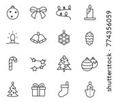 christmas decorations icons set ... | Shutterstock .eps vector #774356059