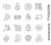 vector line cryptocurrency... | Shutterstock .eps vector #774365398