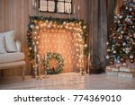 christmas and new year interior ... | Shutterstock . vector #774369010