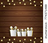 vector happy new year poster.... | Shutterstock .eps vector #774371488