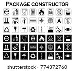 package constructor. packaging... | Shutterstock .eps vector #774372760