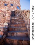 A Stone Stairway Leads Up To A...