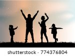 vector silhouette of family. | Shutterstock .eps vector #774376804