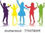 dancing children. silhouettes...   Shutterstock .eps vector #774378049