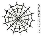 Spider Web Icon On White...