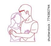 woman and man design | Shutterstock .eps vector #774382744