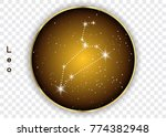 leo zodiac constellations sign... | Shutterstock .eps vector #774382948