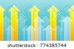 financial arrow graph   Shutterstock .eps vector #774385744