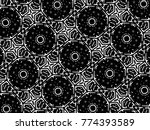 ornament with elements of black ...   Shutterstock . vector #774393589