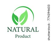 natural vector design.logo... | Shutterstock .eps vector #774394603