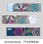 ethnic banners template with... | Shutterstock .eps vector #774398830