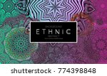 ethnic banners template with... | Shutterstock .eps vector #774398848