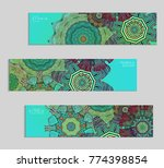 ethnic banners template with... | Shutterstock .eps vector #774398854