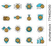 bitcoin crypto currency sign... | Shutterstock .eps vector #774402430