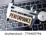 performance measurement or... | Shutterstock . vector #774405796