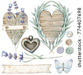 cozy provence set | Shutterstock . vector #774407698
