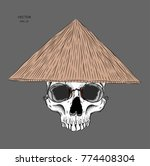 asian hat. manual drawing of... | Shutterstock .eps vector #774408304