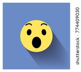 surprised face icon.smiley face ... | Shutterstock .eps vector #774409030
