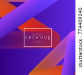 abstract 3d liquid fluid color... | Shutterstock .eps vector #774409240