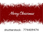 merry christmas greeting card... | Shutterstock .eps vector #774409474