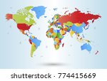 color world map vector | Shutterstock .eps vector #774415669