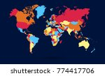 color world map vector | Shutterstock .eps vector #774417706