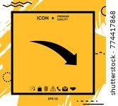 arrow down icon   Shutterstock .eps vector #774417868