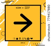 arrow next icon   Shutterstock .eps vector #774417880