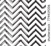 chevron zigzag paint brush... | Shutterstock .eps vector #774419206