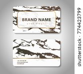 business card set with marble... | Shutterstock .eps vector #774423799