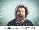new year christmas snow concept ... | Shutterstock . vector #774425134