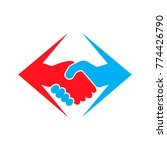abstract colored handshake icon ... | Shutterstock .eps vector #774426790