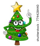 xmas or christmas tree mascot... | Shutterstock .eps vector #774428440