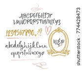 calligraphic handwritten brush... | Shutterstock .eps vector #774428473