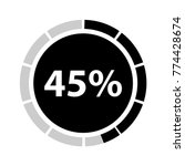 forty five percentage circle... | Shutterstock .eps vector #774428674