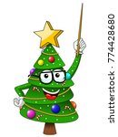 xmas or christmas tree mascot... | Shutterstock .eps vector #774428680