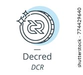 decred cryptocurrency coin line ... | Shutterstock .eps vector #774429640