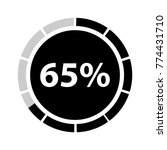 sixty five percentage circle... | Shutterstock .eps vector #774431710