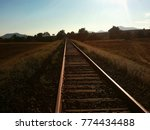 railway in sunset | Shutterstock . vector #774434488