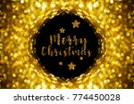 gold bokeh abstract background... | Shutterstock . vector #774450028