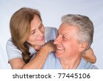 beautiful elderly couple in a... | Shutterstock . vector #77445106